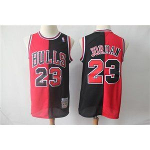 Chicago Bulls Michael Jordan Red Black Jersey